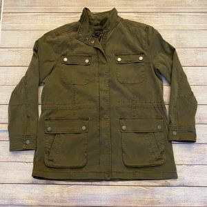 Lucky Brand Utility Jacket Olive Buckle Exclusive